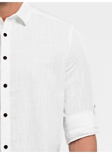 Loft Uzun Kollu Gömlek Beyaz